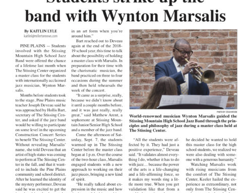 Millerton News: Students with Wynton Marsalis