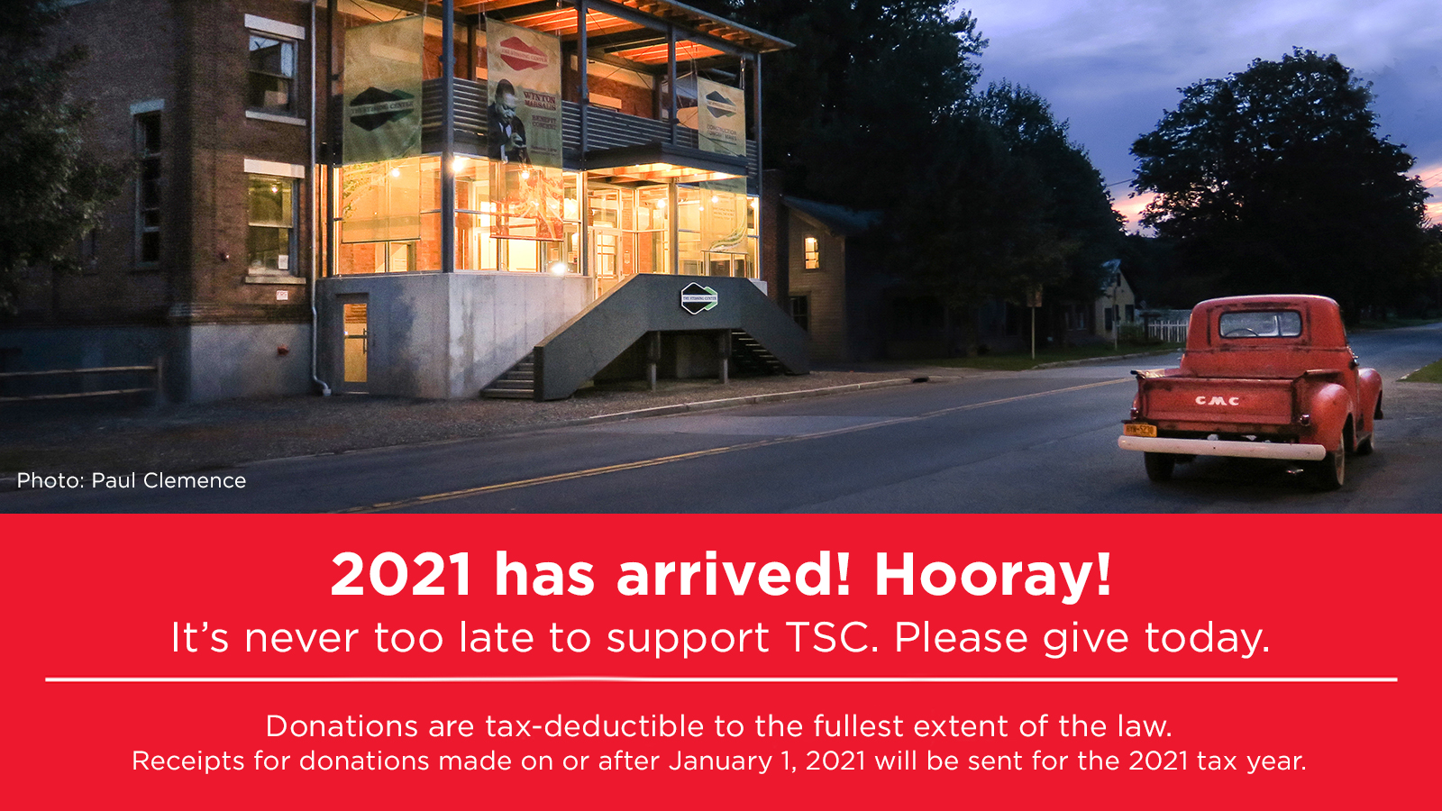 It's never too late  to support  TSC. Please give today.